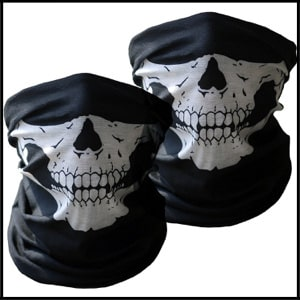 Motorcycle Face Mask 2 Pieces Xpassion Skull Mask