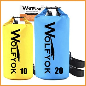 Wolfyyork Roll-Top Waterproof Floating Duffle Dry Gear Bag