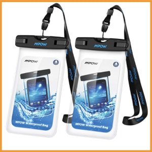 Mpow Universal Waterproof Case, IPX8 Waterproof Phone Pouch Dry Bag