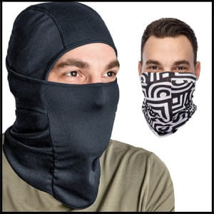 Balaclava Ski Mask Full Face Mask Plus Headband--Motorcycle Mask--Tactical Hood