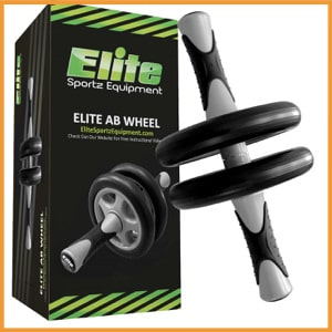Elite Sportz Ab Wheel Roller Wheel Pro with Dual Wheel for Extra Stability