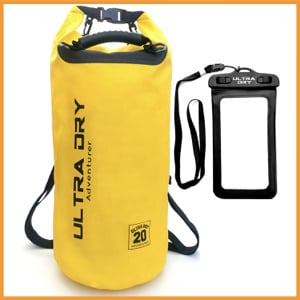 Ultra Dry Premium Waterproof Bag, Sack with Dry Phone Bag and Adjustable Straps