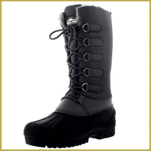 Women's Muck Lace up Rain Nylon Durable Winter Snow Duck Mid-calf Boots