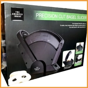 The Sharper Image Precision Cut Bagel Slicer