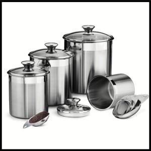 Tramontina Stainless Steel 8 Piece Canisters