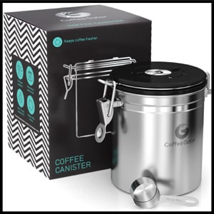 Coffee Gator Premium Quality Stainless Steel Coffee Container