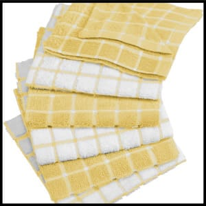 DII Cotton, Ultra Absorbent, Basic Everyday Terry Kitchen Dish Cloths