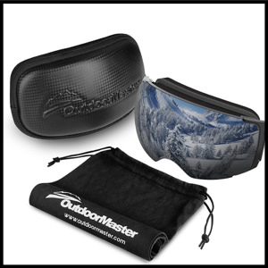 OutdoorMaster Ski Goggles PRO - Frameless, Interchangeable Lens