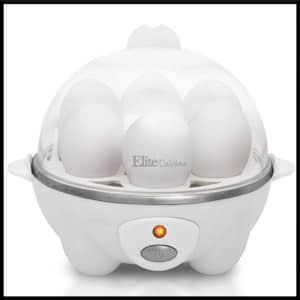 Elite Cuisine 7 Eggs EGC-007 Maxi-Matic Egg Poacher & Egg Cooker