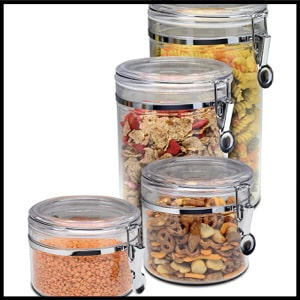 Bellemain Airtight Acrylic Kitchen Canister Set