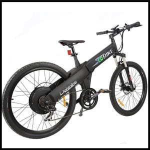 EGO BIKE New Electric Bike Matt Black Electric Bicycle Mountain