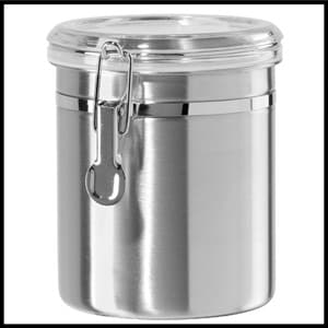 Oggi Stainless Steel Canister with Clear Acrylic Lid