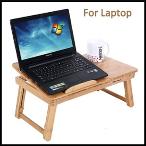 SONGMICS Bamboo Lap Desk Adjustable