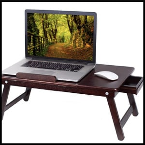 BirdRock Home Bamboo Laptop Bed Tray