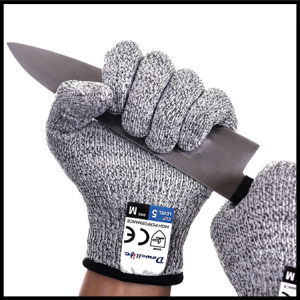 Dowellife Cut Resistant Gloves Food Grade Level 5 Protection