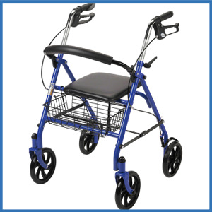 Drive Medical Four Wheel Rollator Walker