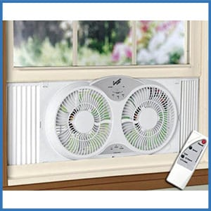 HowPlumb Portable Twin Reversible Window Fan