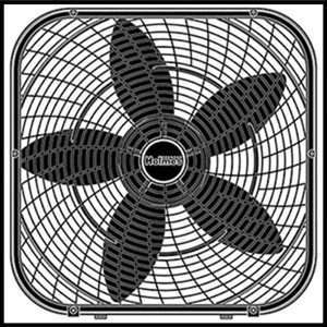 Holmes 20-Inch Box Fan Black