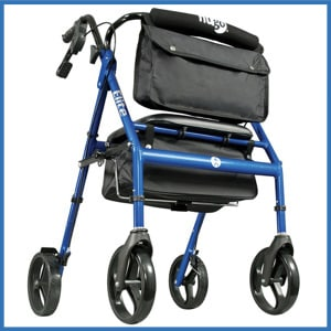 Hugo Elite Rollator Walker with Seat