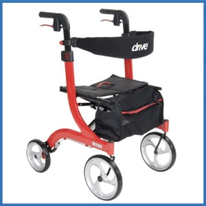 Drive Medical Nitro Euro Rollator Walker