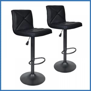 BestOffice Black 2 PU Leather Modern bar stools