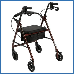 Drive Medical Aluminum Rollator Walker