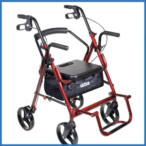 Drive Medical Duet Wheelchair Walker Rollator