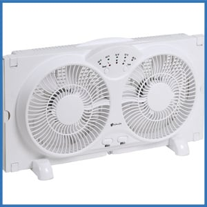 Avalon Twin Window Fan with 9 Inches Blades