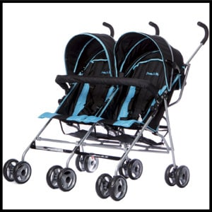 Dream On Me Twin Stroller, Dark Blue, Ultra-lightweight