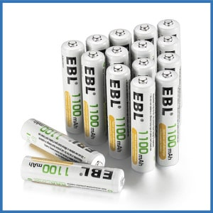 EBL Rechargeable AAA Batteries (16-Counts)