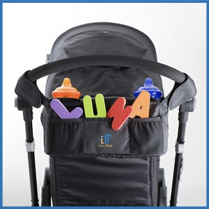 Luna Baby Stroller Organizer with Magnetic Closure System