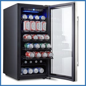 Phiestina PH-CBR100 106 Can Stainless Steel Beverage Cooler