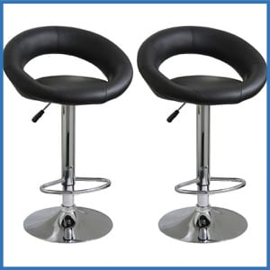 Amerihome BS1189SET Height Adjustable Bar Stool Set