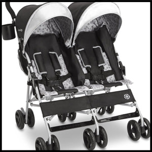 Jeep Brand Scout Double Stroller, Charcoal Galaxy