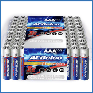 ACDelco Super Alkaline AAA Battery (100 Counts)