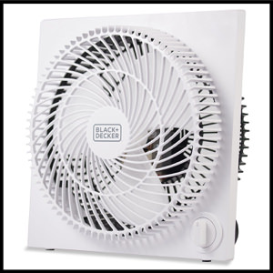 Black+Decker BFB09W Quiet Mini Tabletop Box Fan