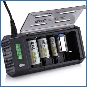 EBL LCD Smart Battery Charger