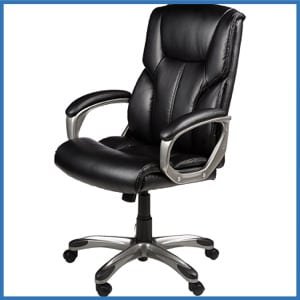 AmazonBasics High Back Executive Chair Black