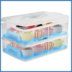 DuraCasa Cupcake Carrier & Holder