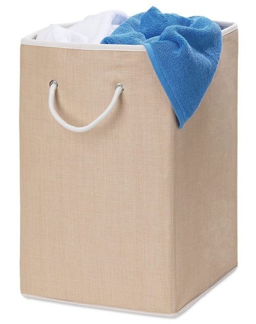 Honey-Can- Do HMP-01453 Sturdy Resin Hamper With Rope Handle