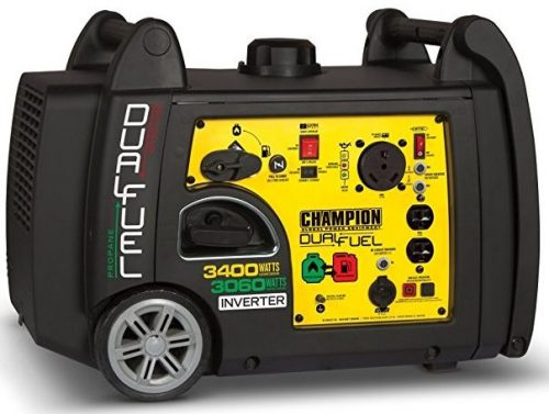 Champion 3400-Watt Dual Fuel Portable Inverter Generator, Electric Starter
