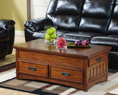 Cross Island lift top coffee table with storage