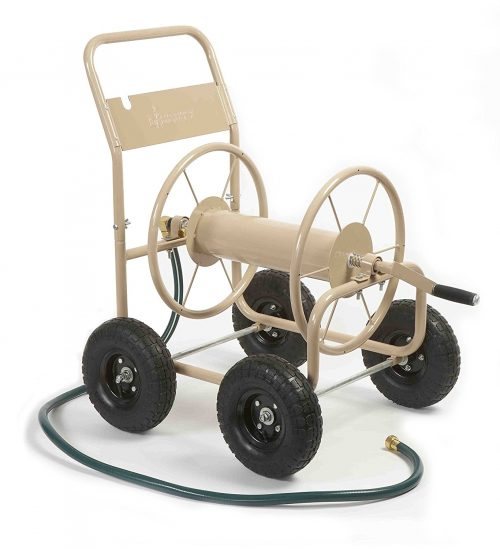 Liberty Garden Products 870-M1- 2 Industrial Garden Hose Reel Cart, 4-Wheel