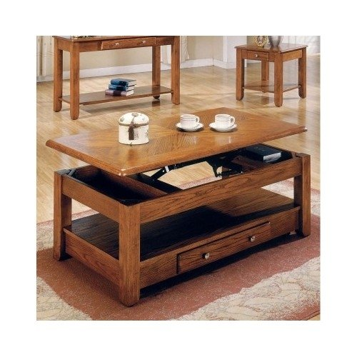 Logan lift top coffee table oak