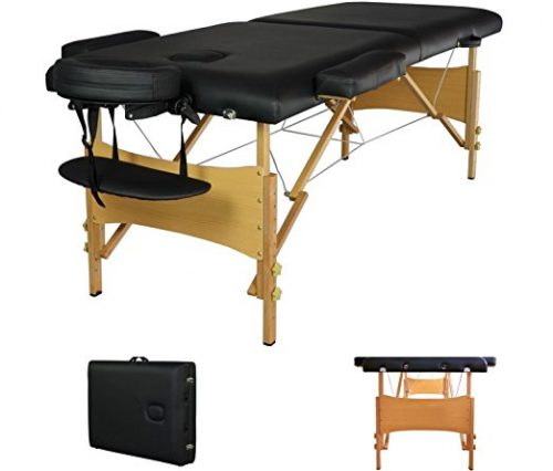 "New Black 84"" portable massage table"