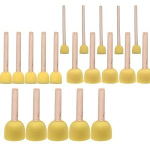 BCP 20-Pieces Assorted Size Round Sponges Brush Set