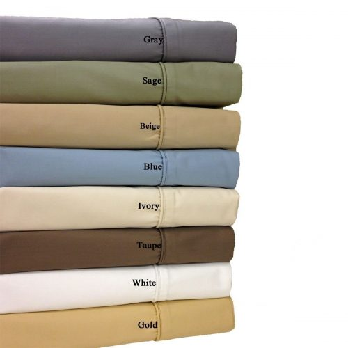 California-King Ivory 650-Thread Count Bed Sheets