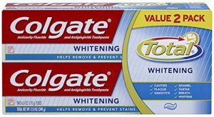 Colgate Total Whitening Toothpaste, Twin Pack