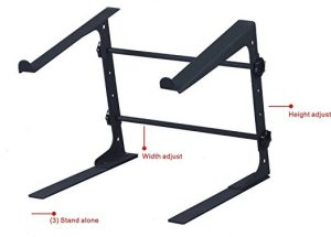 GMI-Pro DJ Laptop Stand with Adjustable Shelf, Three Different Assembly Options