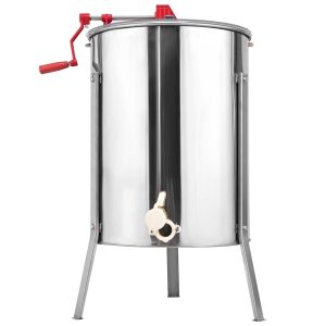 Goplus Stainless Steel Large 4/8 Frame Manual Honey Extractor